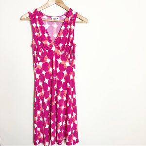 Leota Bright Print Sleeveless Sheath Dress Small